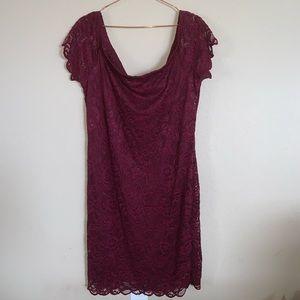 Ambiance NWT burgundy lace dress 3X
